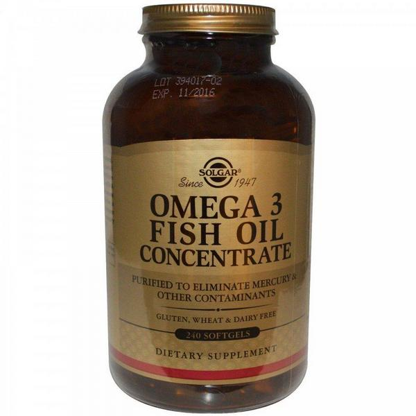 Концентрат рыбьего жира Омега-3 1000 мг от Solgar