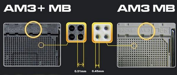 Сокет AM3 и его улучшенная версия имеют небольшие отличия