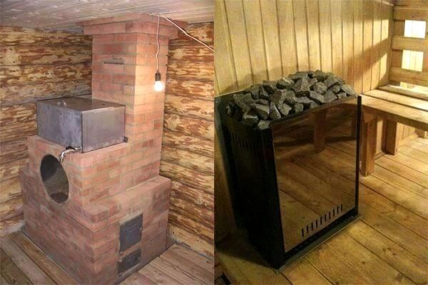Важны также тип каменки и ее вместимость, материал корпуса