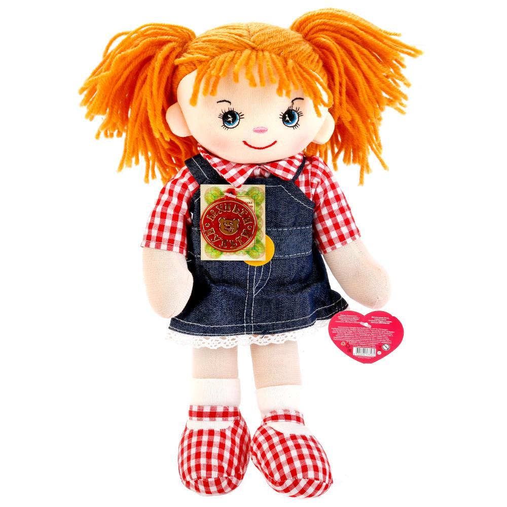 Мягкая игрушка Мульти-Пульти Мягкая кукла рыжая в джинсовом сарафане