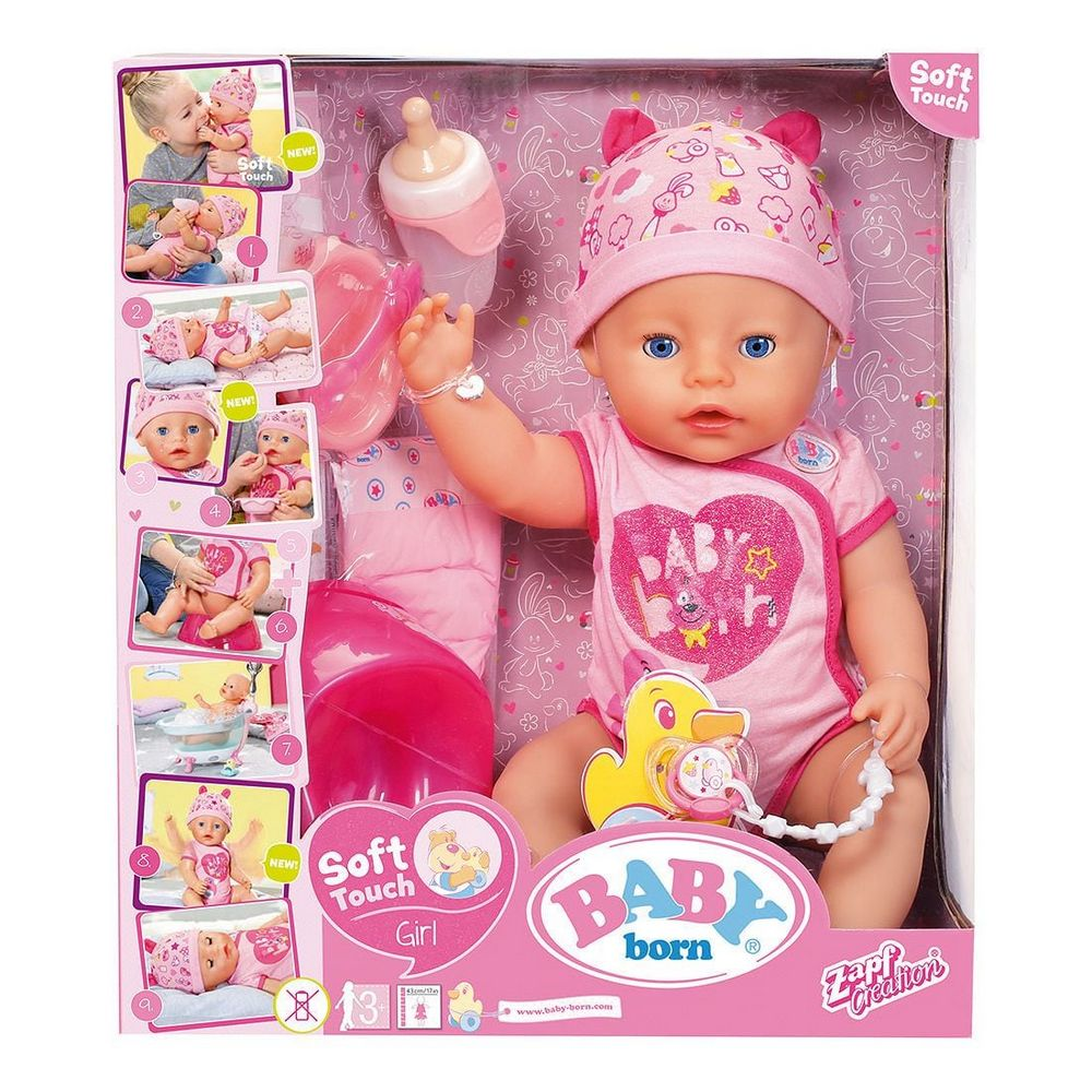 Zapf Creation Baby Born Bath Soft Touch Girl