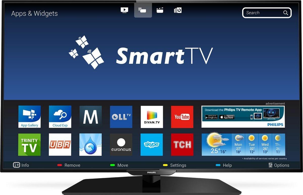 Экран телевизора со Смарт ТВ
