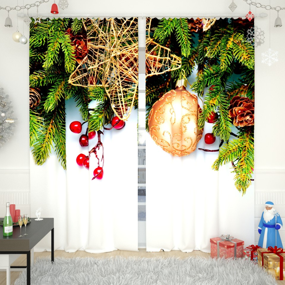 Фотошторы - идеальное украшение окна к новому году