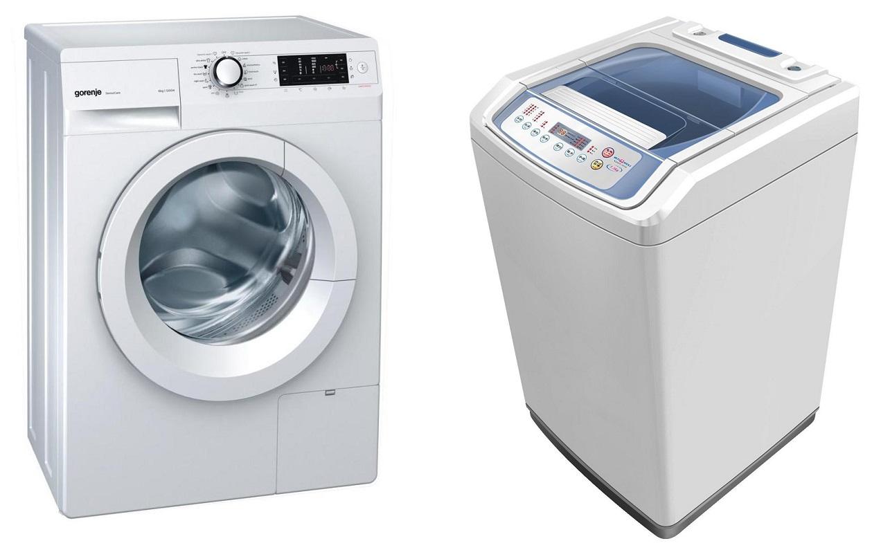 Фронтальная и вертикальная стиральные машины