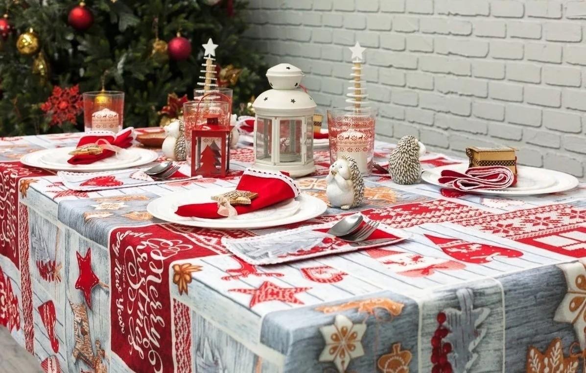 Новогодний текстиль и посуда - отличный способ создать новогоднее настроение
