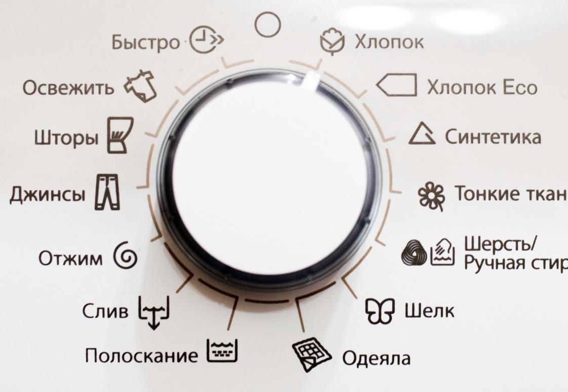 Пример функционала стиральной машинки с механическим управлением