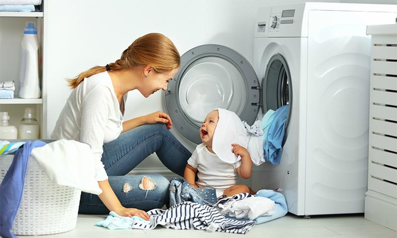 Стиральная машинка должна быть защищена от детей