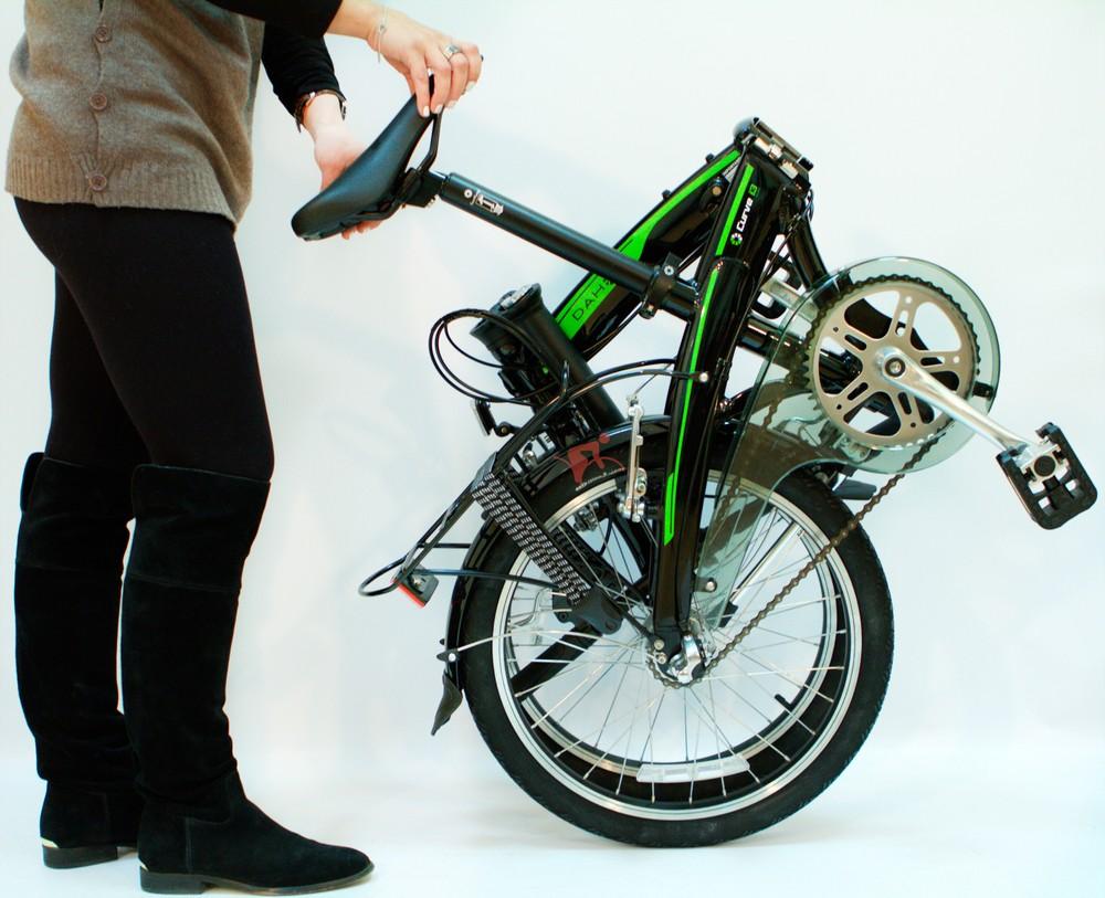 Есть несколько способов складывания таких велосипедов