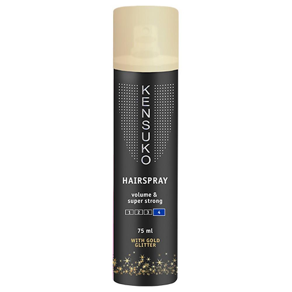 Лак для волос KENSUKO с золотыми блестками