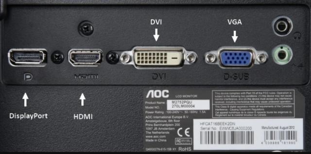 На данный момент оптимальным разъемом подключения компьютера к монитору является разъем HDMI
