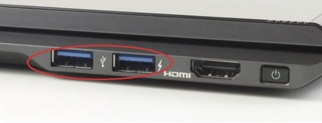 Большинство ноутбуков имеют USB–разъёмы