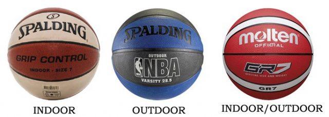 Баскетбольные мячи бывают для зала, улицы и универсальные