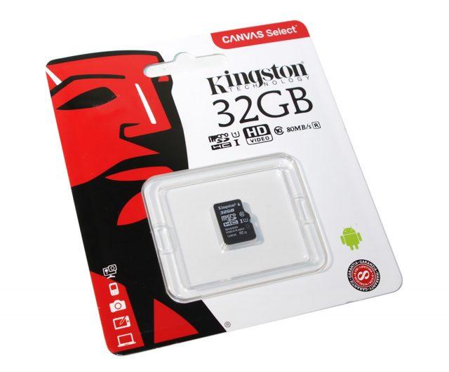 Kingston Canvas Select microSDHC Class 10 UHS-I U1 32GB
