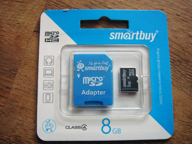 SmartBuy 8GB + SD adapter