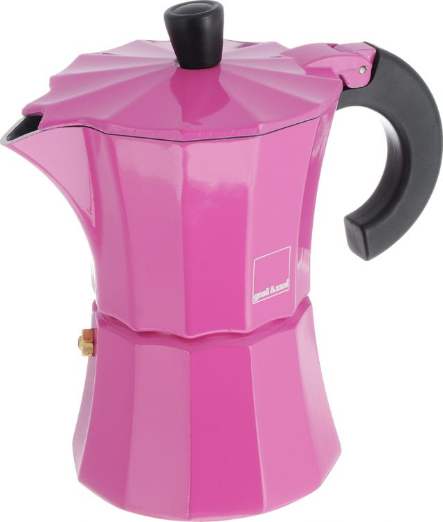 Оригинальная розовая кофеварка