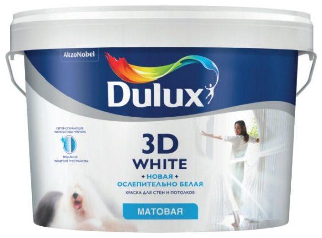 Краска «3D White» от «Dulux»