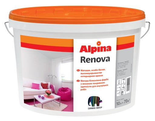 Краска «Alpina Renova» на акриловой основе