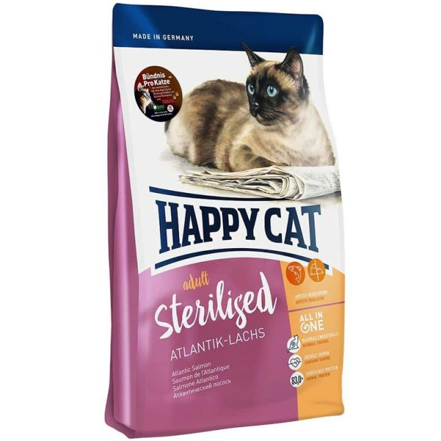 Happy cat Supreme Sterilised Атлантический лосось