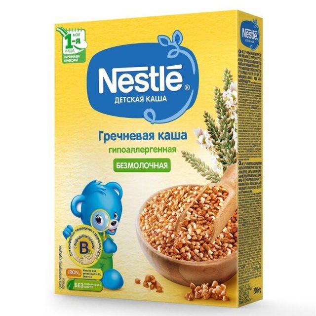Nestle гипоаллергенная безмолочная каша
